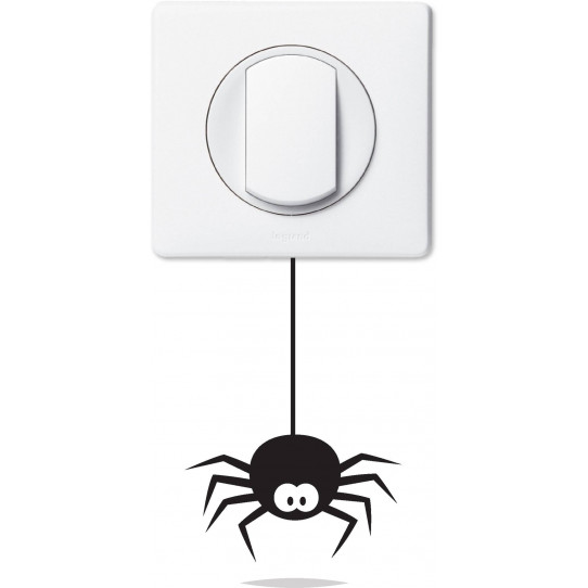 Stickers araignée pour prise et interrupteur