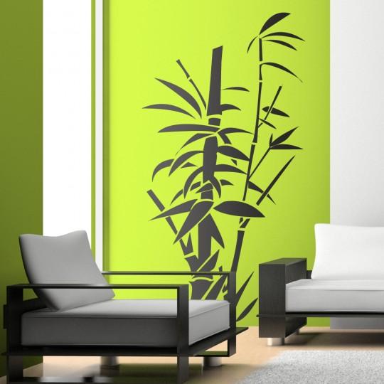 Stickers adhésif autocollant muraux mural bambou