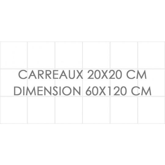 Stickers carrelage design