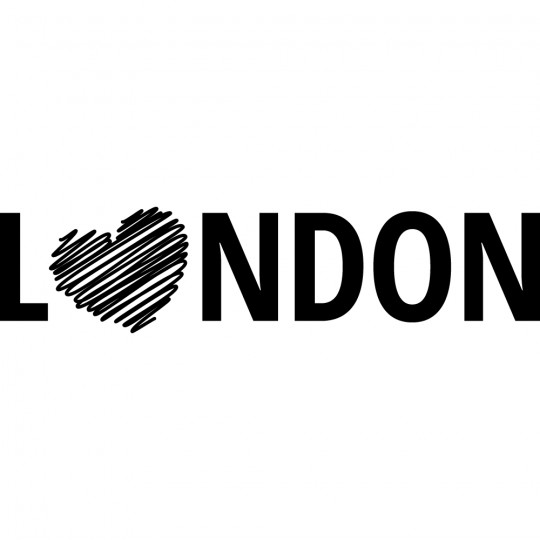 Stickers coeur london