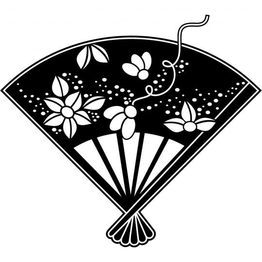 Stickers éventail fleurs