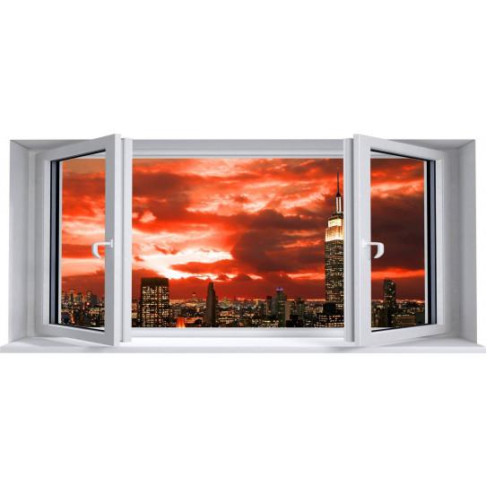 Stickers Fenêtre Trompe L'oeil