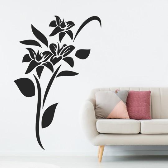Stickers adhésif autocollant muraux mural fleur