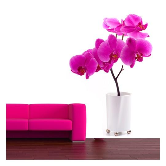 Stickers Fleur Pot Orchidée