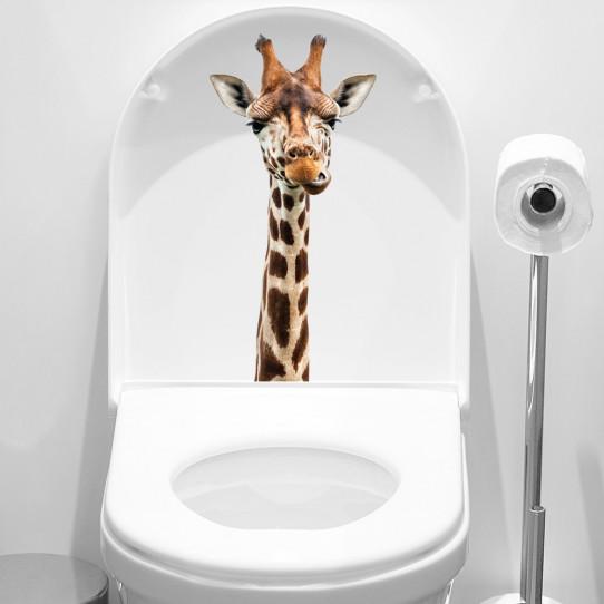 stickers adhésif wc girafe