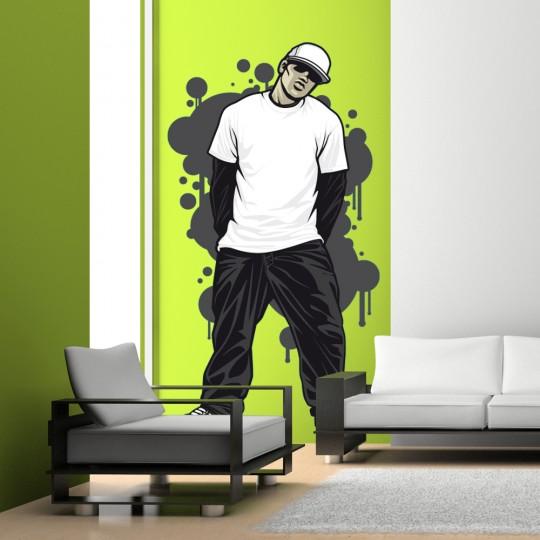 Autocollant Stickers mural ado jeune freestyle