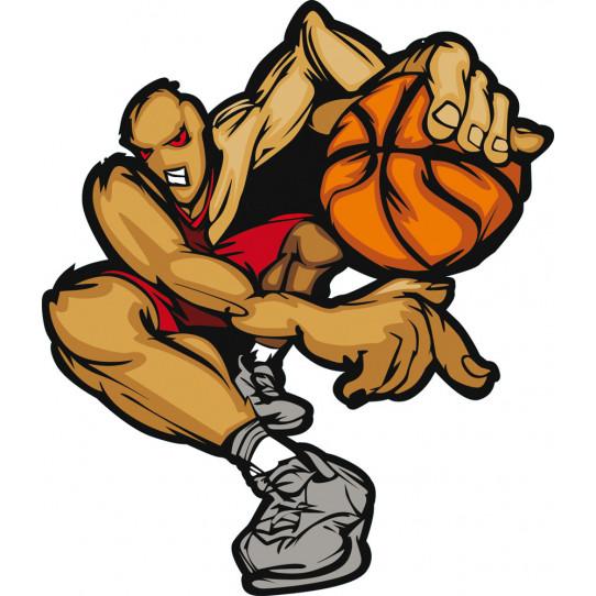 Autocollant Stickers ado joueur basketball