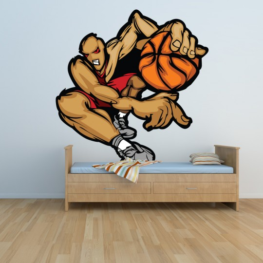 Autocollant Stickers mural ado joueur basketball