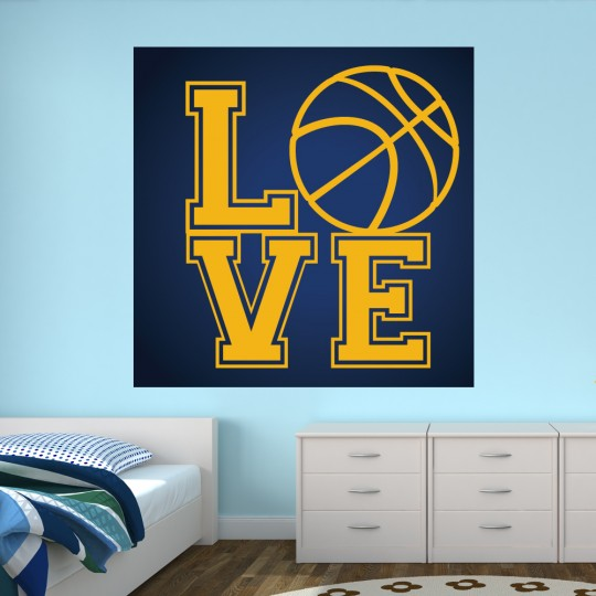 Autocollant Stickers muraux ado love basketball