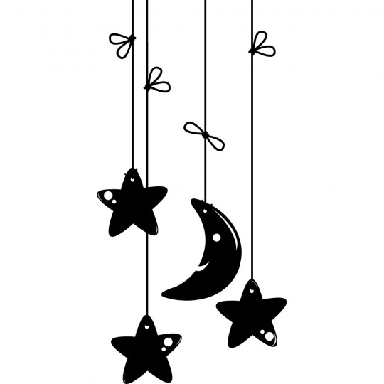 Stickers lune étoile