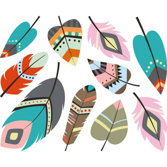 Stickers plumes indiennes