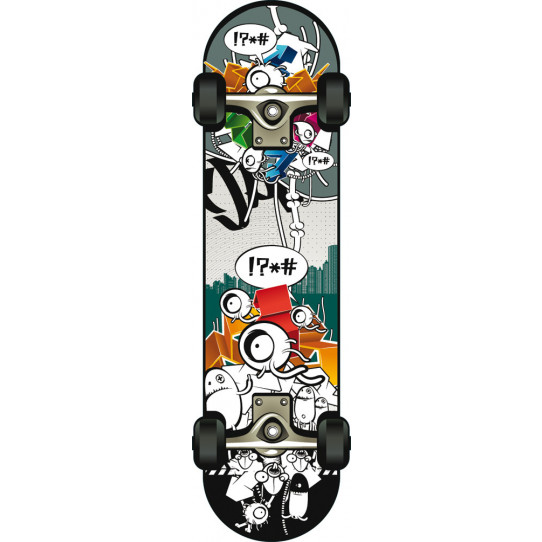 Autocollant Stickers ado skate verso