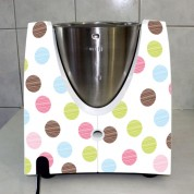 Stickers Thermomix TM 31  A pois multucolor