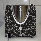 Stickers Thermomix TM 31 Fleur graphique noire