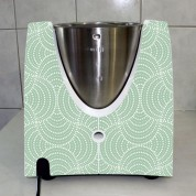 Stickers Thermomix TM 31  Rond design vert pomme