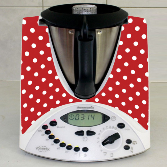 Stickers Thermomix TM31 Rouge à pois