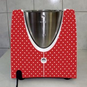 Stickers Thermomix TM 31 Rouge à pois 2