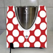 Stickers Thermomix TM 31 Rouge à pois 3
