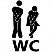 autocollant wc
