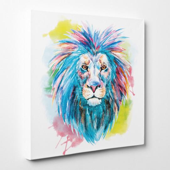 Tableau toile - Lion Abstrait