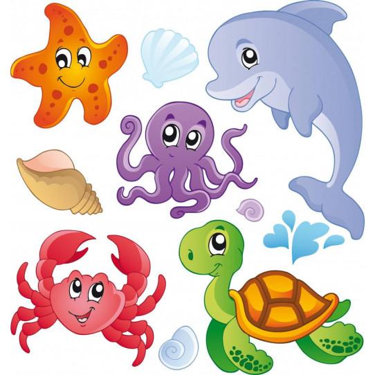 kit Stickers enfants marin