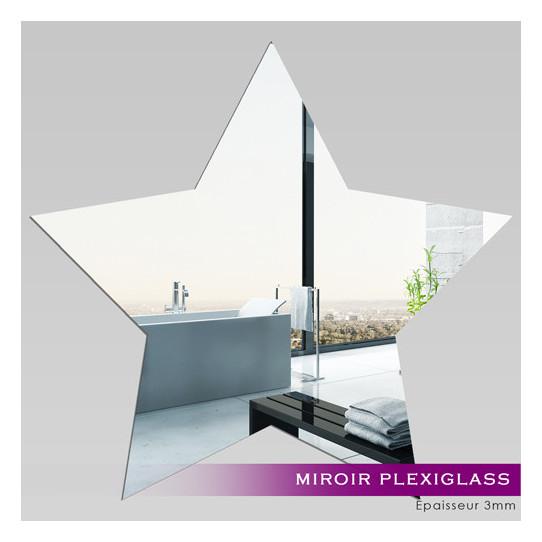Miroir Plexiglass Acrylique - Etoile