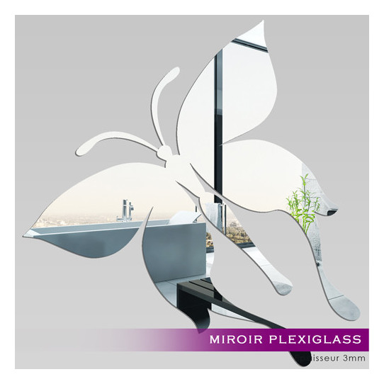Miroir Plexiglass Acrylique - Papillon