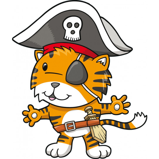 Stickers capitaine pirate