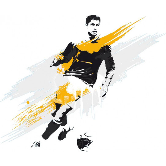 Stickers joueur de foot
