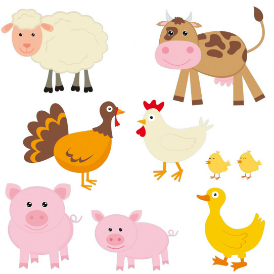 Stickers kit animaux de la ferme