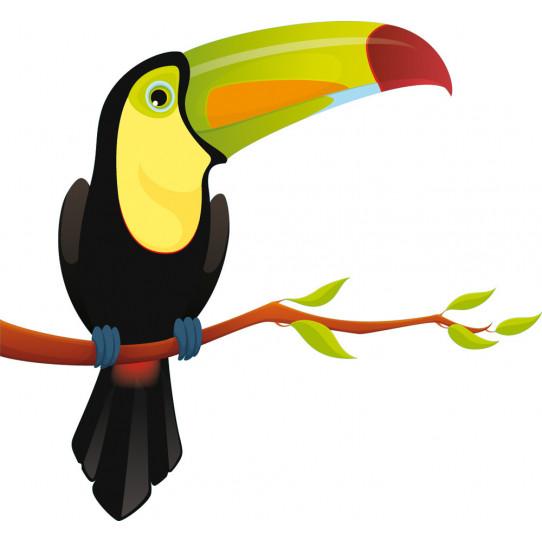 Stickers oiseau branche