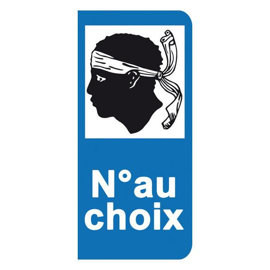 Stickers Plaque Corse