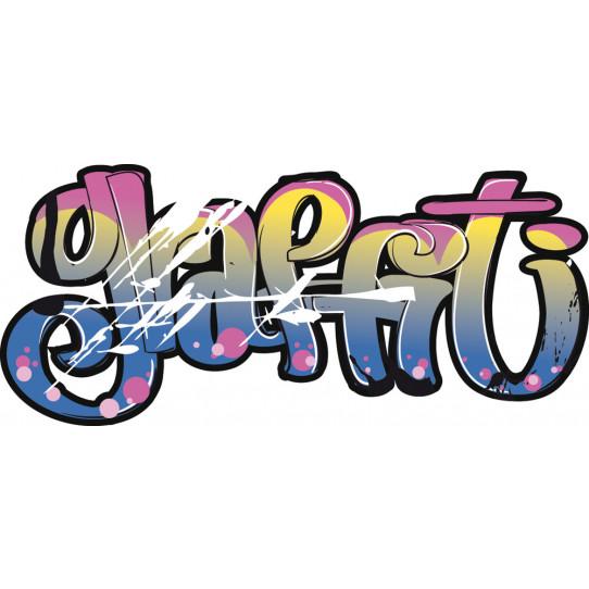 Stickers tag graffiti